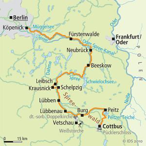 Spree-Radweg Karte